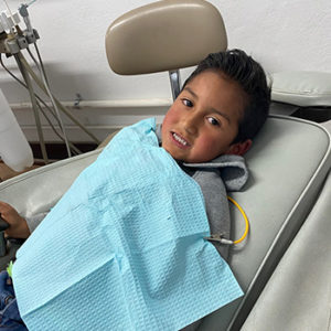 Photo of child in dentist chair